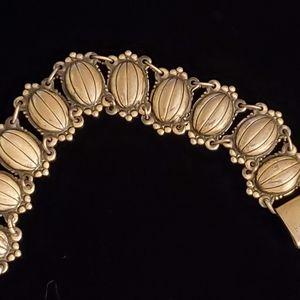 Vintage Sterling Melon Shaped Bracelet